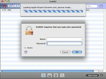 KisMAC software