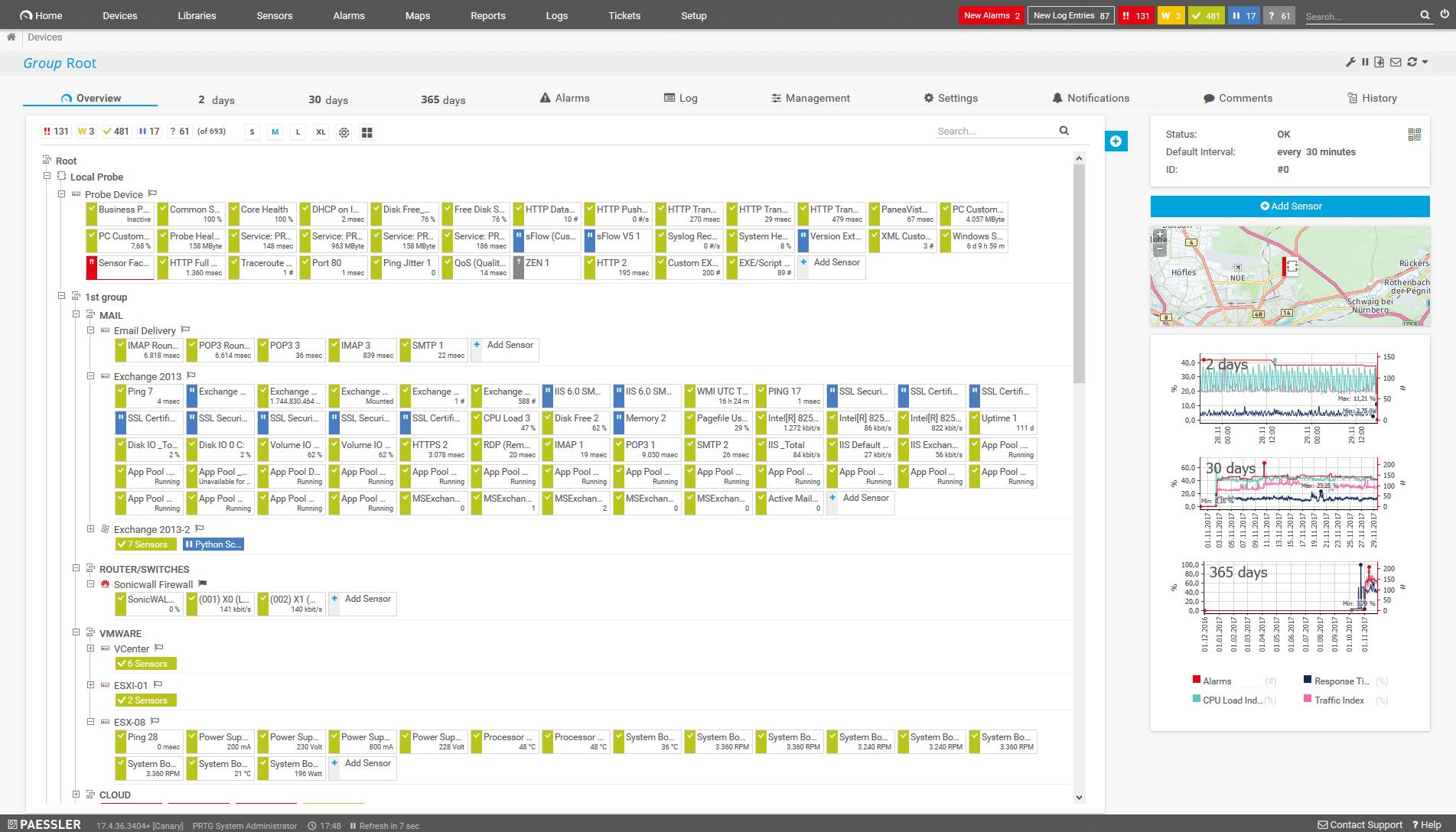 PRTG software
