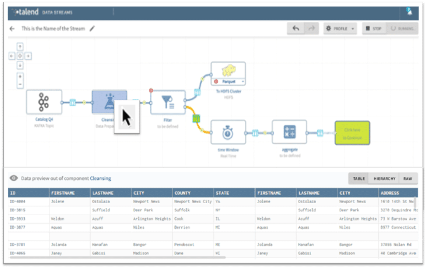 Talend features