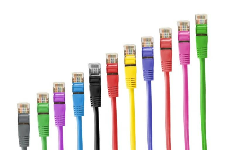 cables in different colors