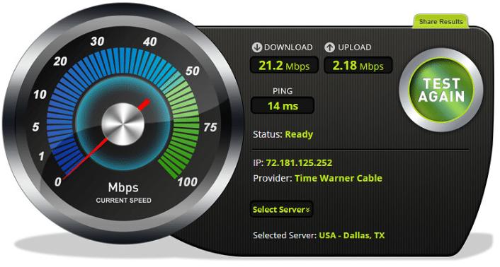 internet speed test capture