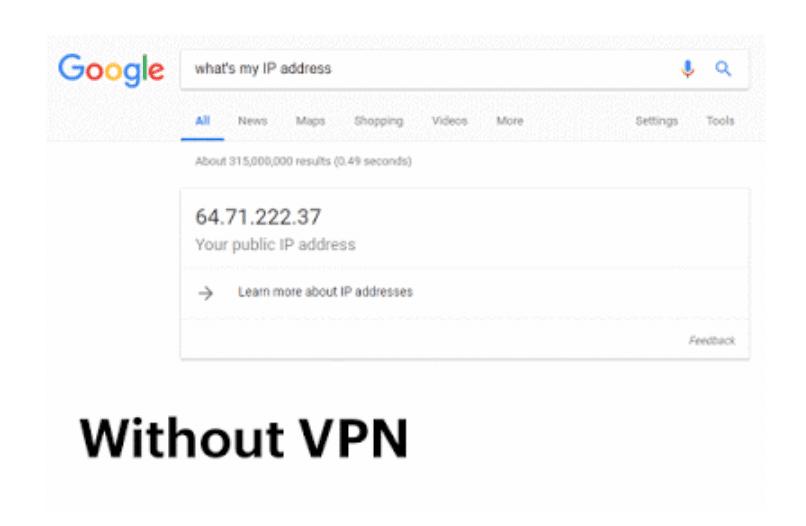 original IP address without VPN