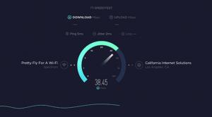 report of internet speed test