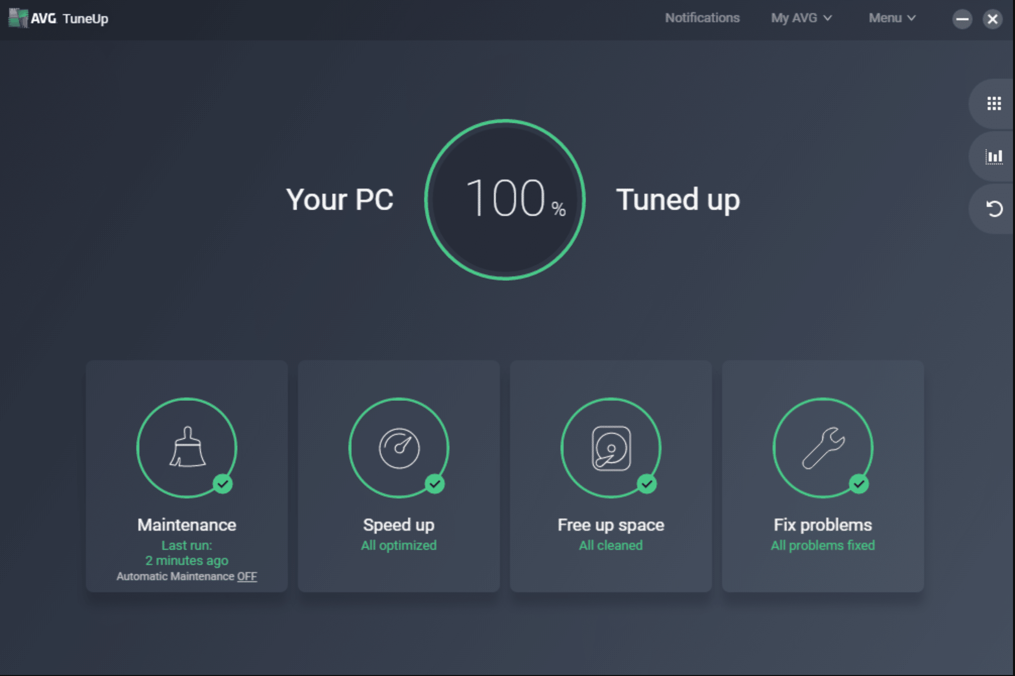 AVG User Interface