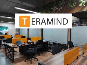 An office and Teramind logo