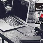 Bitdefender and Kaspersky logos