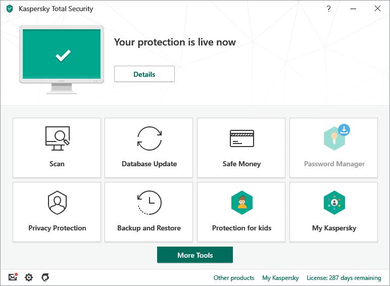 Kaspersky antivirus capture