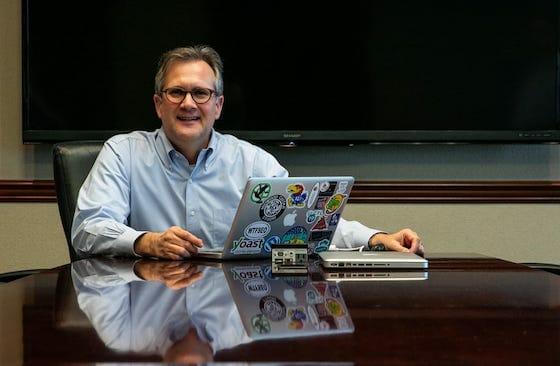 david zimmerman at desk headshot