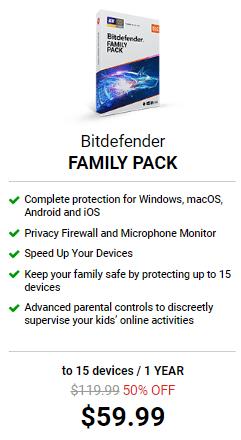 Bitdefender Family Pack solution