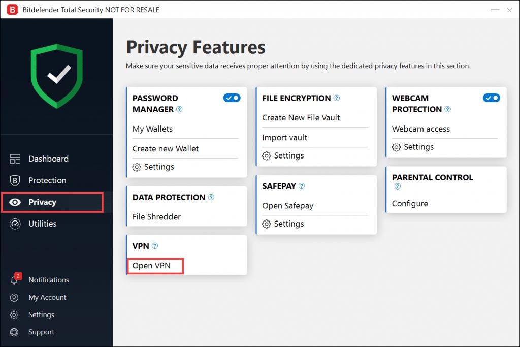 Bitdefender features