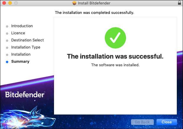 Bitdefender installation capture