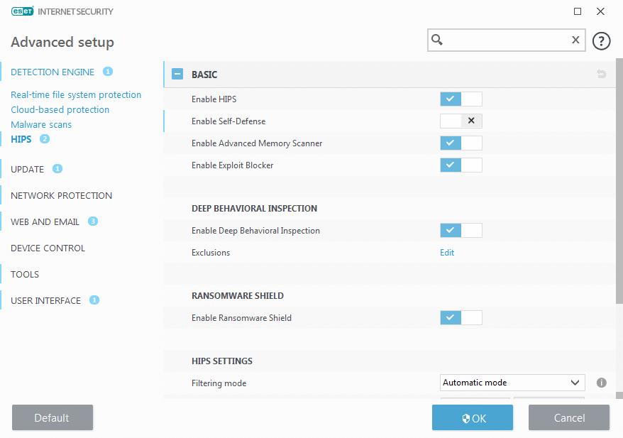 ESET features