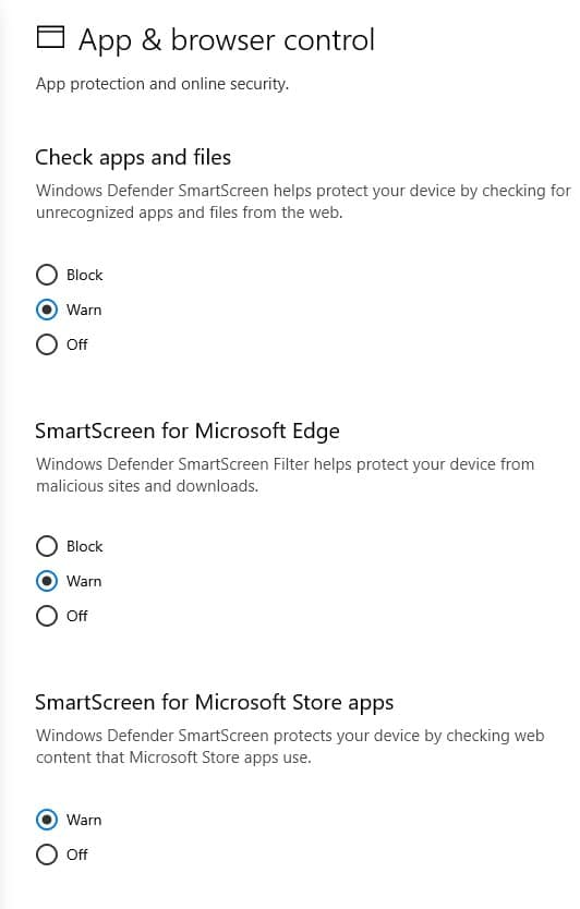 apps and browser control