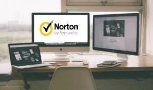 Norton logo on the screen