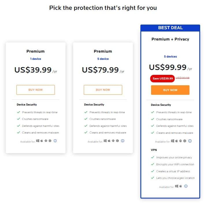 check malwarebytes prices