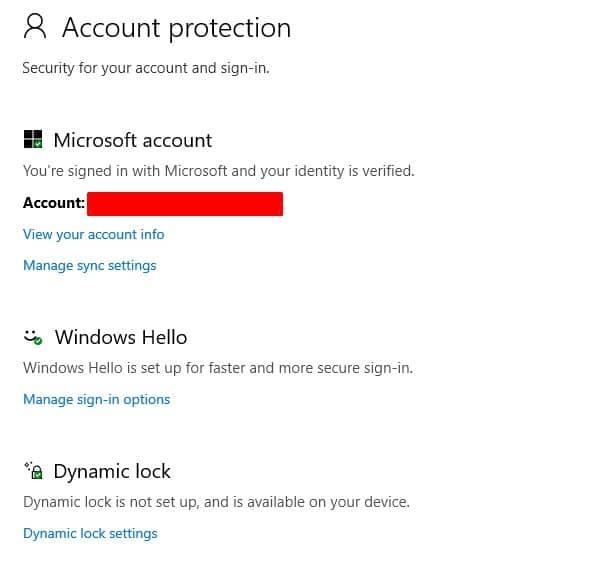 windows account protection