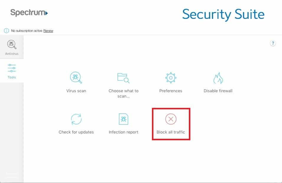 Spectrum Security features