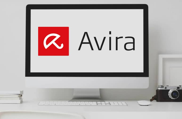 avira logo on computer screen