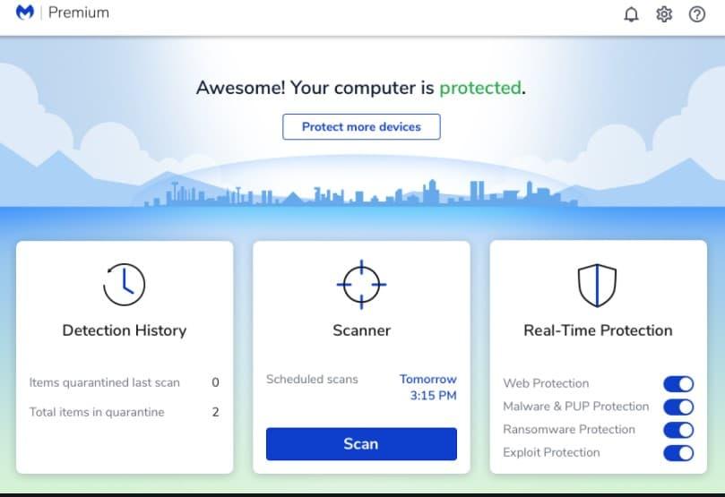 malwarebytes protects your computer