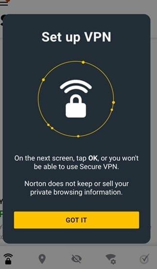 norton vpn on android