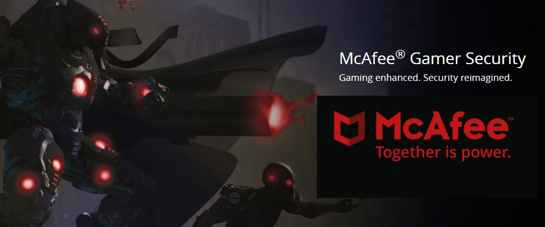 McAfee gamer security logo