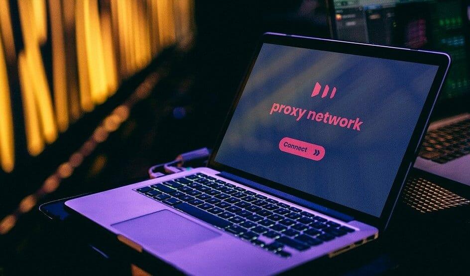 proxy on a laptop