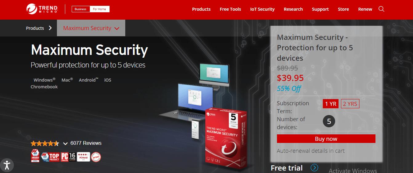 TM Security features