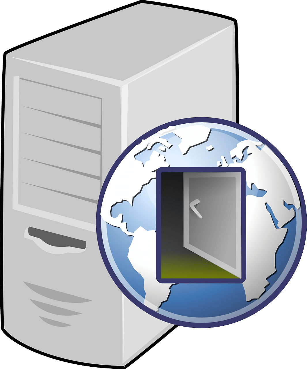 computer and internet icon