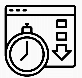 Download speed graphic icon