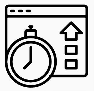 Upload speed graphic icon