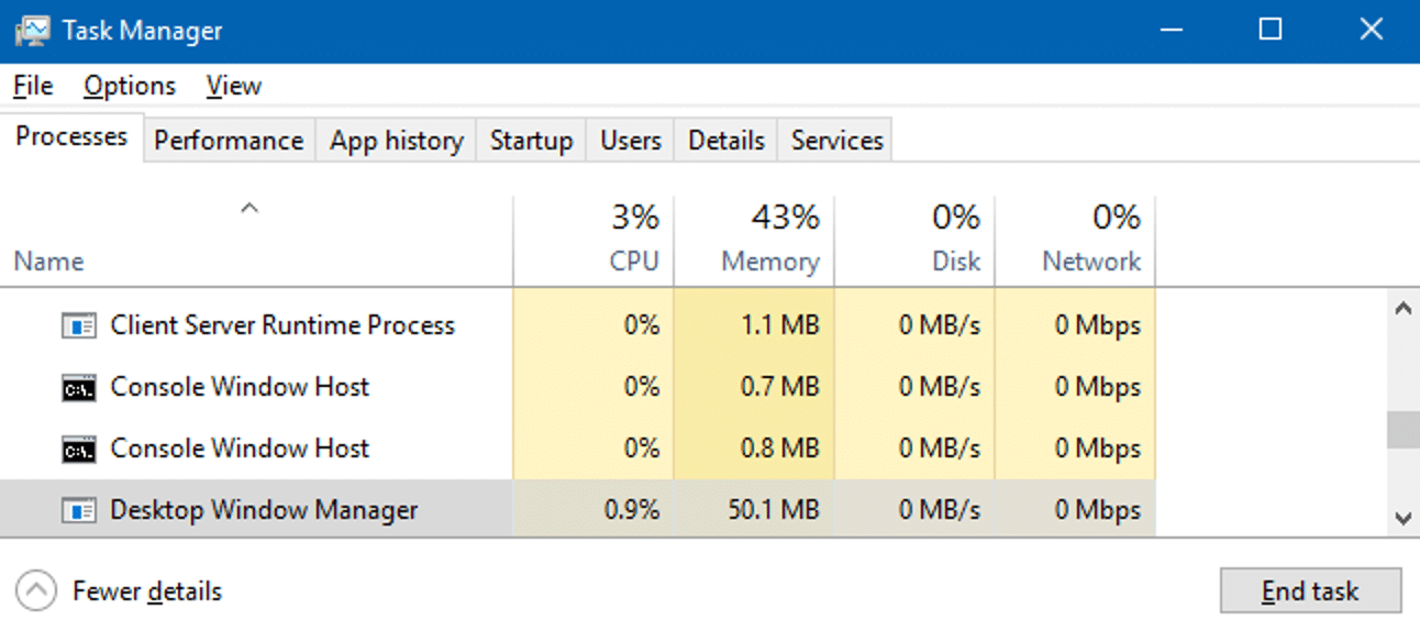 Desktop Window Manager capture