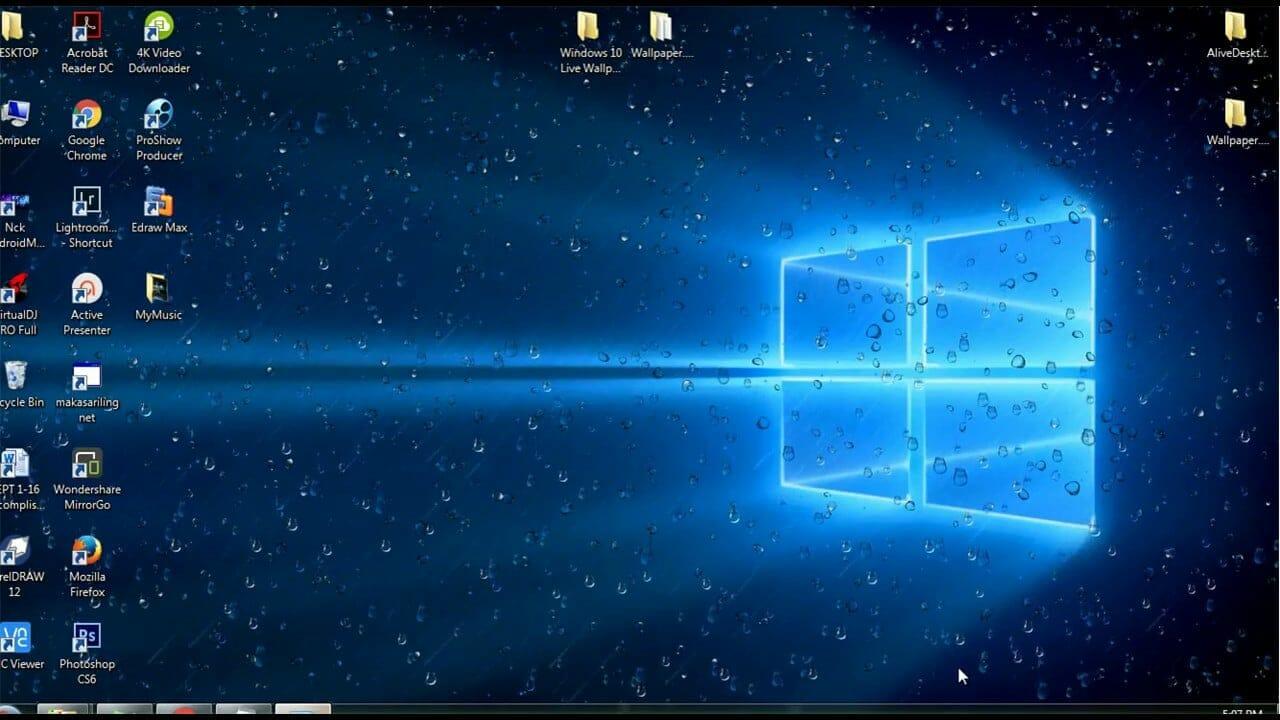 windows 10 on the screen