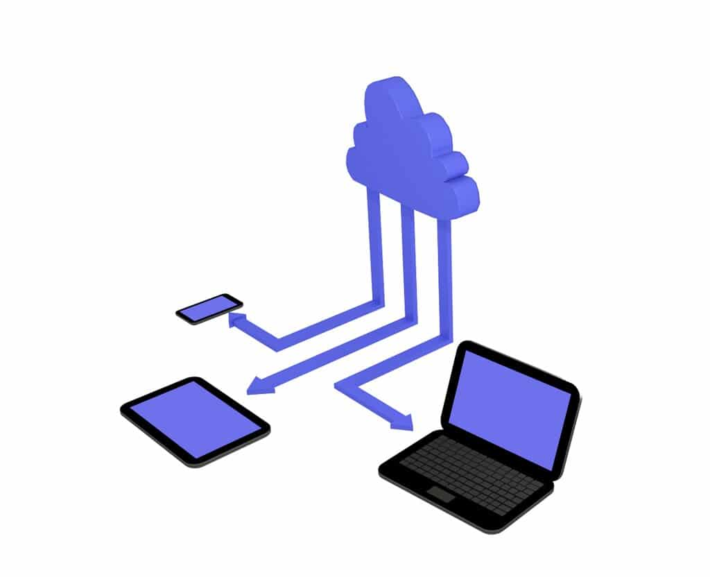 Cloud and devices illustration
