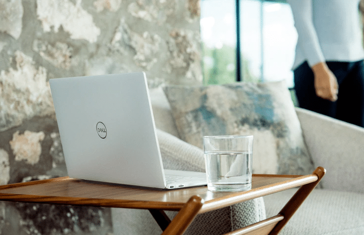 laptop on the table