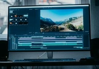 monitor for video editing in use