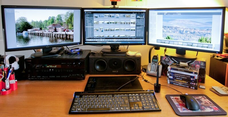 monitor on the desk
