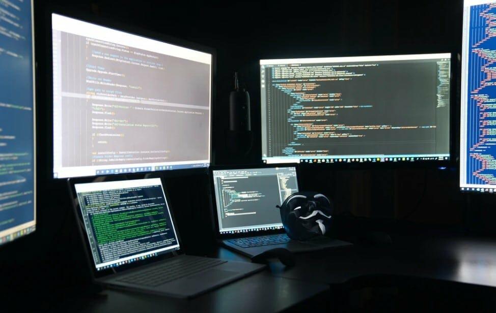 monitors and laptops
